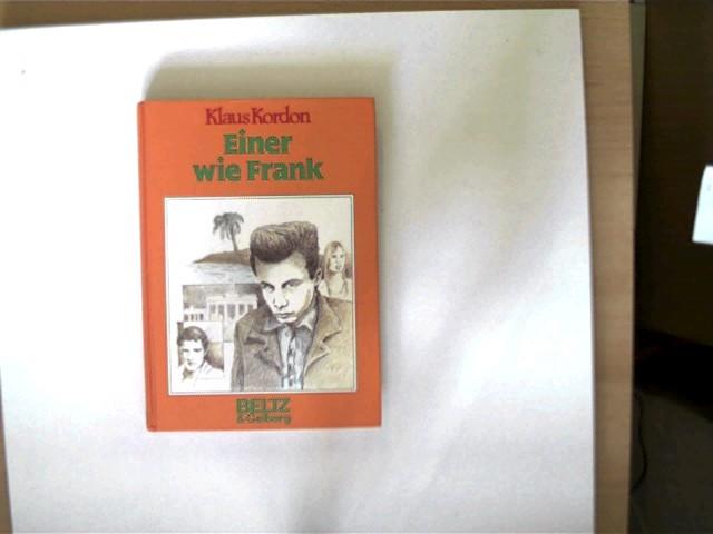 Einer wie Frank, Roman, wohl 1.Auflage, Titelseite mit einem Stempel, letzte unbeschriebene Seite mit einem Zettel (Lasche) beklebt, ansonsten gutes Exemplar,