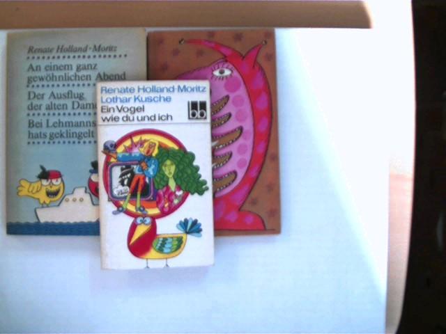 Holland-Moritz, Renate und Lothar Kusche: 3 Bücher der deutschen Schriftstellerin Renate Holland-Moritz und des deutschen Schriftstellers Lothar Kusche, , Konvolut, Bücherpaket, , Konvolut Bücherpaket, Geschichten, Erzählungen, 1x 1., 1x 2. und 1x 3. Auflage, alle Buchdeckel mit leichten Gebrauchsspuren, ansonsten gute Exemplare,