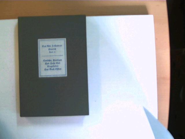 Das Alte Testament, Band 16, Sprache, Prediger / Das hohe Lied / Klagelieder / Das Buch Esther, wohl 1. Auflage, Buchdeckel ist etwas fleckig, ansonsten gutes Exemplar,