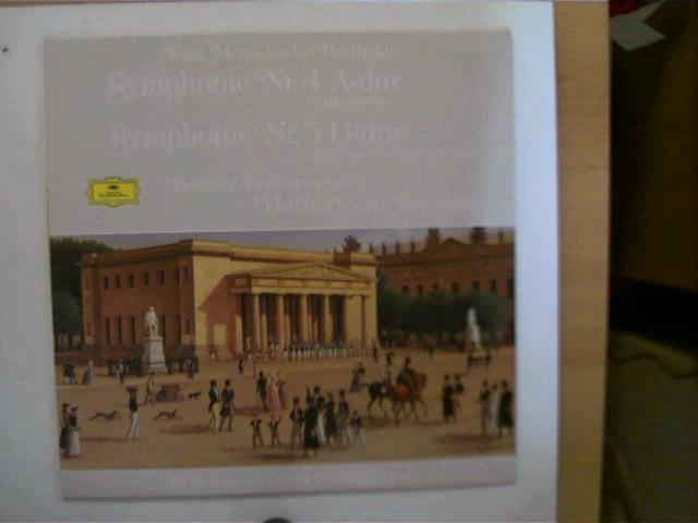 Künstlerkollektiv: Felix Mendelssohn-Bartholdy - Symphonie Nr.4 und 5, Berliner Philharmoniker, Herbert von Karajan, Platte sehr guter Zustand,