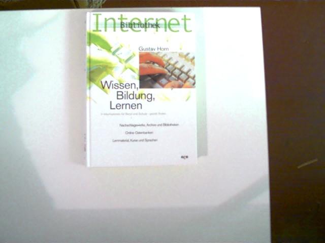 Internet-Bibliothek; Wissen, Bildung, Lernen; nur wenige Aufkleberreste hinten, ansonsten schönes Exemplar,