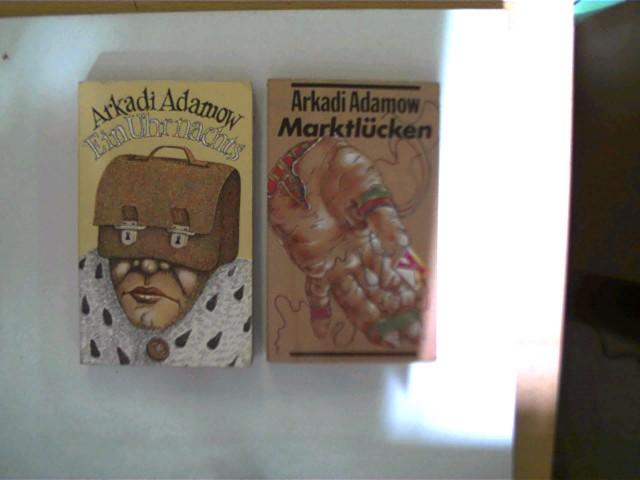 2 Bücher vom russischen Autor Arkadi Adamow in dieser seltenen Sammlung: 1. Marktlücken, 2. Ein Uhr nachts, , Konvolut, Bücherpaket, , Konvolut Bücherpaket, Buchdeckel mit leichten Gebrauchsspuren, ansonsten altersentsprechend gute Exemplare,