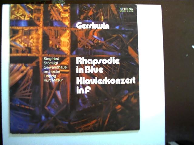 Rhapsodie in Blue - Klavierkonzert in F; Hülle mit etwas Gebrauchsspuren, Platte guter Zustand,