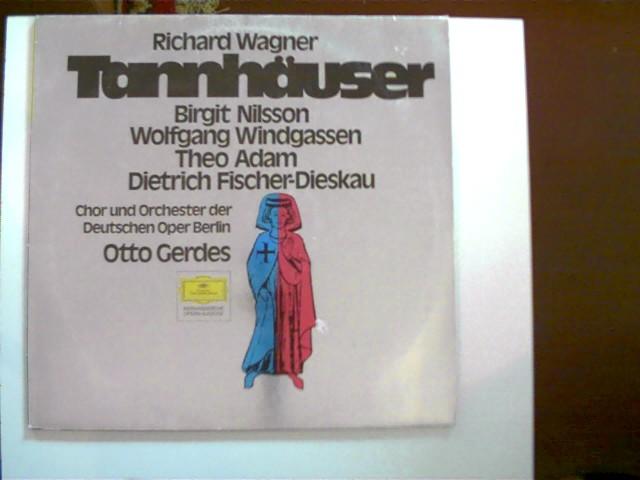 Tannhäuser - Auszüge; Chor und Orchester der Deutschen Oper Berlin, Otto Gerdes; Hülle etwas abgenutzt, Schallplatte guter Zustand,