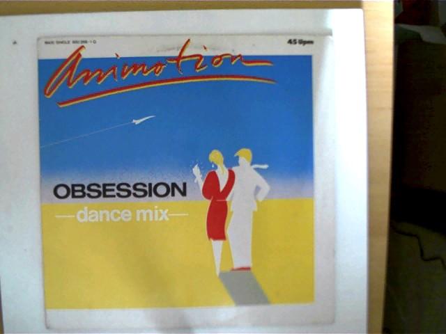 Animotion - Obsession (dance mix), Platte wenig fleckig, Hülle mit wenigen leichten Gebrauchsspuren, ansonsten guter Zustand,