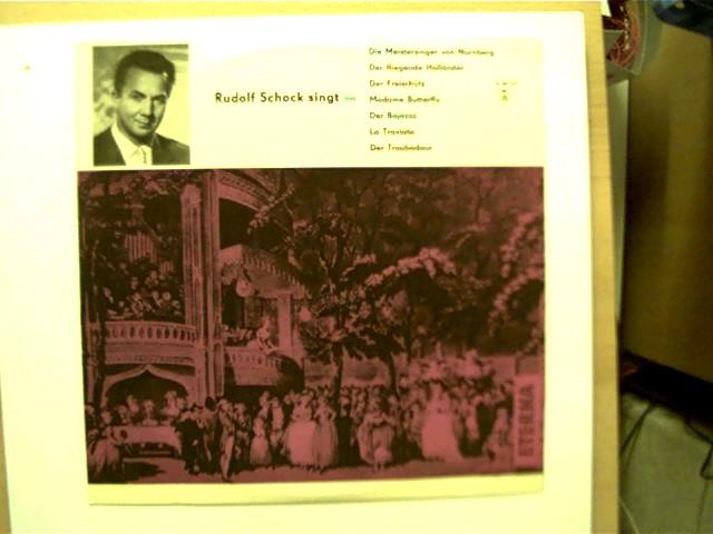 Rudolf Schock singt aus: Die Meistersinger von Nürnberg, Der fliegende Holländer, Der Freischütz, Madame Butterfly, Der Bajazzo, La Traviata, Der Troubadour, SELTEN!, guter Zustand,