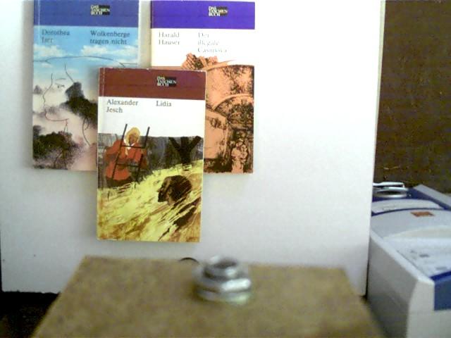 3 Bücher in dieser seltenen Sammlung: 1. Lidia (Alexander Jesch) / 2. Der illegale Casanova (Harald Hauser) / 3. Wolkenberge tragen nicht (Dorothea Iser), , Konvolut Bücherpaket, Geschichten, die Buchdeckel haben leichte Gebrauchsspuren, bei einem Exemplar sind alle Seiten unten  etwas wasserwellig, ansonsten altersentsprechend gute Exemplare,
