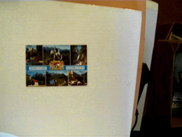 Postkarte: Neuschwanstein - Hohenschwangau, Ecken leicht bestoßen, Karte minimal berieben, ansonsten gutes Exemplar,