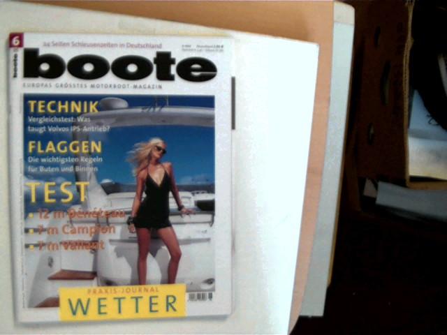 boote - Das Motorboot-Magazin - Juni 2005, Europas größtes Motorboot-Magazin, Heftdeckel mit minimalen Gebrauchsspuren, ansonsten gutes Exemplar,