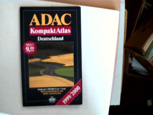 ADAC Kompaktatlas Deutschland 1999/2000, einige leichte Gebrauchsspuren, Ecken leicht bestoßen, ansonsten sehr gutes Exemplar,