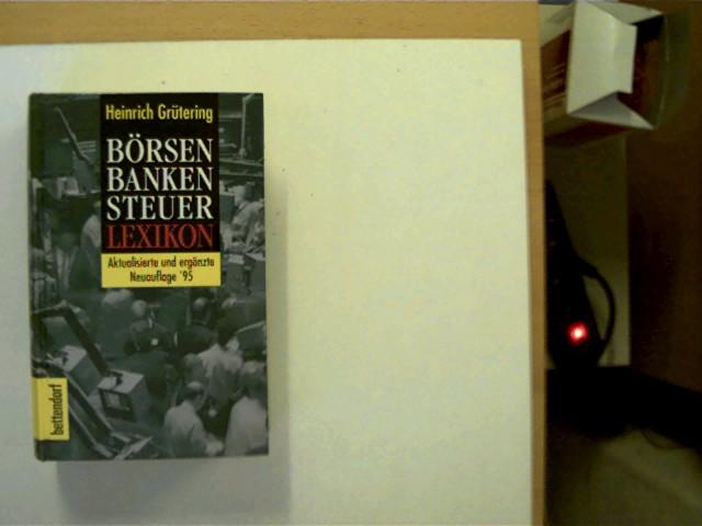 Börsen Banken Steuer Lexikon, SELTENE Ausgabe!!!, sehr gutes Exemplar,
