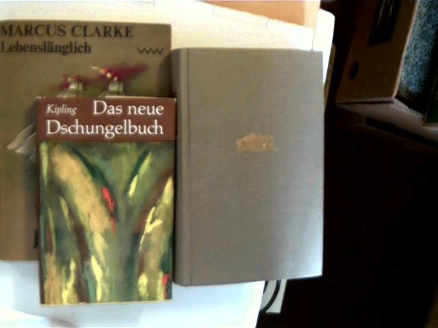 3 Bücher von englischsprachigen Autoren in dieser seltenen Sammlung: 1. Rudyard Kipling - Das neue Dschungelbuch, 2. Margaret Mitchell - Vom Winde verweht, 3. Marcus Clarke - Lebenslänglich, , Konvolut Bücherpaket,