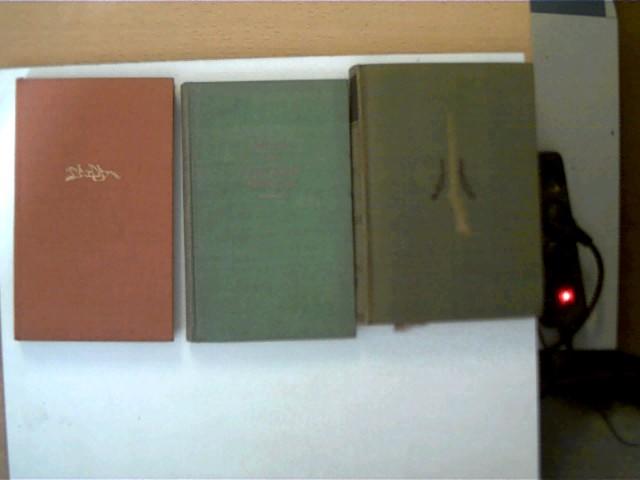 3 Bücher von deutsch-sprachigen Autoren in dieser seltenen Sammlung: 1. Das Mädchen von Zacatlan - Otto Gmelin, 2. Die verlorenen Paradiese - Artur Müller, 3. Abenteuer aus aller Welt, , Konvolut Bücherpaket,