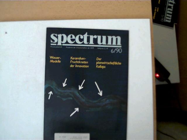 spectrum - 6/ 90, Monatszeitschrift, Buchdeckel mit leichten Gebrauchsspuren u. vorne mit einem Adressaufkleber, wenige Seiten mit Textmarkierungen, ansonsten altersentsprechend gutes Exemplar,