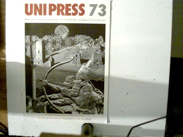 Unipress 73, Berichte über Forschung und Wissenschaft an der Universität Bern, Selten!, weiße Broschur,