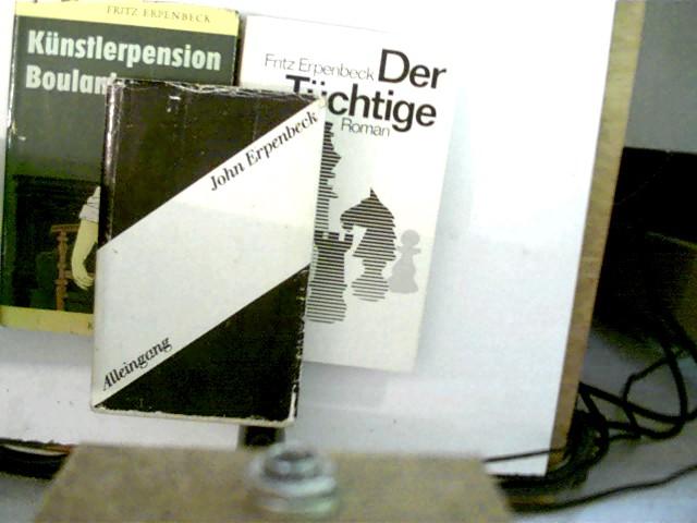 3 Bücher des deutschen Autors John Erpenbeck: 1. Alleingang, 2. Der Tüchtige, 3. Künstlerpension Boulanka, , Konvolut Bücherpaket,
