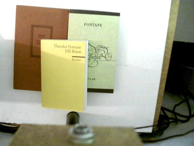 3 Bücher des deutschen Autors Theodor Fontane: 1. Effi Briest (Reclam Bd. 1969), 2. Der Stechlin (Reclam Bd. 535), 3. Mathilde Möhring, , Konvolut Bücherpaket,