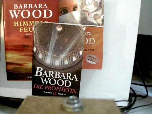 3 Bücher der amerikanischen Autorin Barbara Wood: 1. Die Propheten (Fischer 13751), 2. Herzflimmern (Fischer 50611), 3. Himmelsfeuer, , Konvolut Bücherpaket, 2x Paperback,
