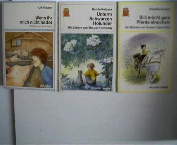 3 Kinder/Jugendbücher aus der dtv junior Reihe, ---------- 1. Wenn ihr mich nicht hättet (Band 70163) von Ulf Nilsson, ------- 2. Unterm Schwarzen Holunder (Band 75009) von Hanne Kulessa, ------ 3. Billi möcht gern Pferde streicheln (Band 75008) von Angel