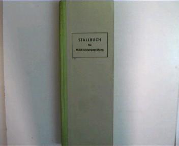 Stallbuch ---- für Milchleistungsprüfung, TZ 1 g, Selten - Original, Halbleinwand,