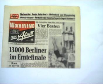 BZ am Abend, Wochenend, 12. Jahrgang, Nr. 201, 27. August 1960,