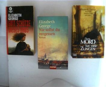 3 Bücher von Elizabeth George ----- 1. Gott schütze dieses Haus ------ 2. Nie sollst du vergessen ------ 3. Denn Mord hat viele Zungen, , Konvolut Bücherpaket, 3 x Paperback,