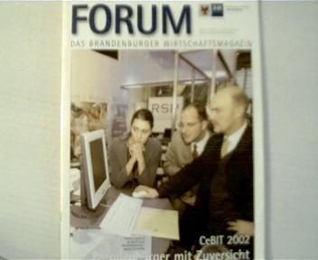 1 Zeitschrift  ------  FORUM   ---- Ausgabe von:  05/2002, ---- Das Brandenburger Wirtschaftsmagazin ---