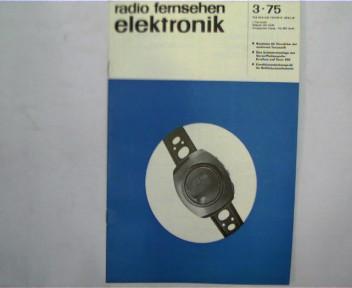 radio fernsehen elektronik, 3 / 1975, Zeitschrift,