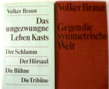 2 Bücher:  ---1.Gegen die symmetrische Welt,     ------2.Das ungezwungene leben Kasts, , Konvolut Bücherpaket, Hardcover, verschiedene Einbände,