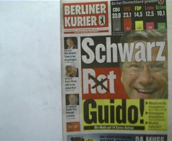 Autorenkollektiv: 1 Zeitschrift:  Berliner Kurier, Montag 28. September 2009; Zeitung für Berlin-Brandenburg,