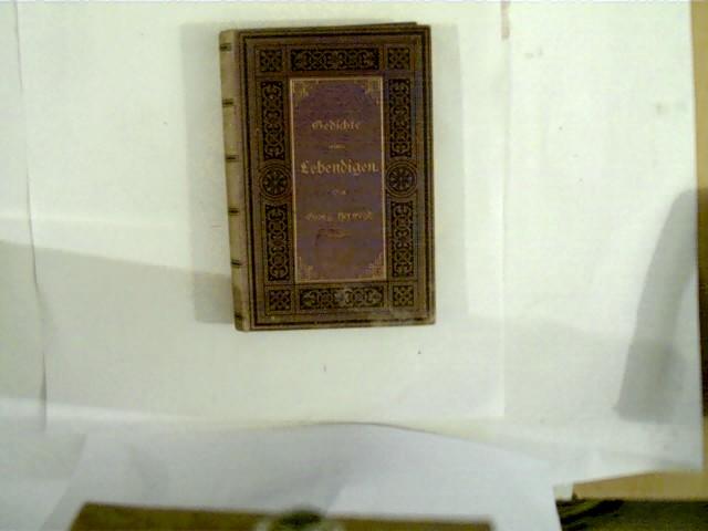 Gedichte eines Lebendigen, 10. Auflage,