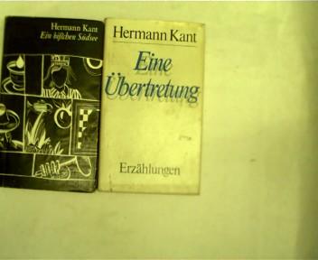 Sammlung von 2 Büchern von Hermann Kant: 1.Ein bischen Südsee , 2.Eine Übertretung, , Konvolut Bücherpaket,