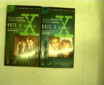 Sammlung von 2 Büchern nach der Fernsehserie von Chris Carter : Akte X: 1.Das Nest , 2.Sophie, , Konvolut Bücherpaket,
