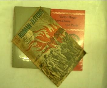 Sammlungen von 3 Büchern von Victor Hugo: 1. Das Meer und die Nacht, 2. Notre-Dame von Paris, 3. Die schwarze Fahne, , Konvolut Bücherpaket,
