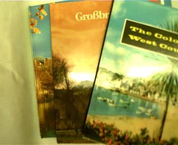 """Sammlung von 3 Bildbänden Großbritanien: 1. A. N. Court """" The Colourful West Country"""", 2. Autorenkollektiv """" Großbritanien """", 3. Rupert O. Matthews """" England """", , Konvolut Bücherpaket,"""