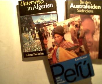 Sammlung 3 Reiseberichte über Indien: 1. Bei den Australoiden Südindiens, 2. Das Geheimnis der Toda - Reisen in den Blauen Bergen Südindiens, 3. Reise zu den Naga, , Konvolut Bücherpaket,