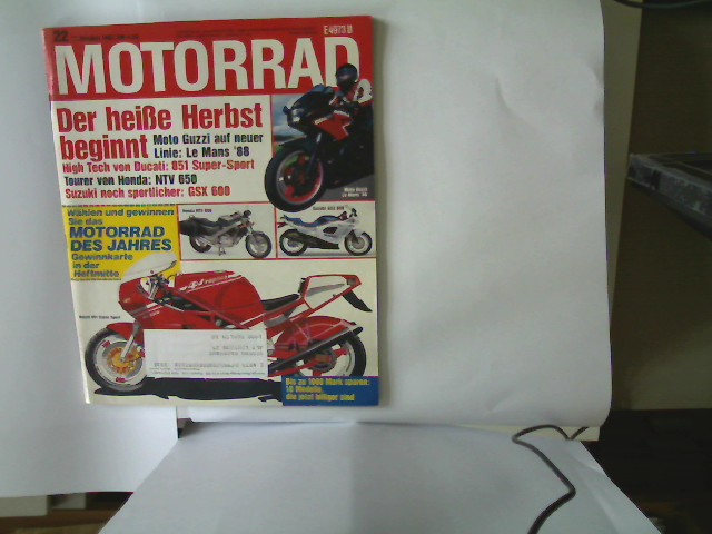 Autorenkollektiv: Motorrad - Nr. 22 - 17. Oktober 1987, Die große Motorrad-Zeitschrift,