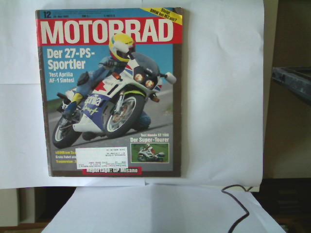 Motorrad - Nr. 12 - 26. Mai 1990, Die große Motorrad-Zeitschrift,