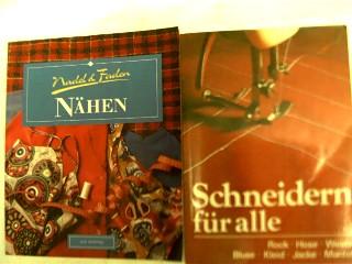 Bücherpaket / Konvolut / Büchersammlung, 2 Bücher des Themas: Schneidern: Titel: 1. Schneidern für alle von Irene Adam, 2. Nadel und Faden - Nähen von Sue Whiting,