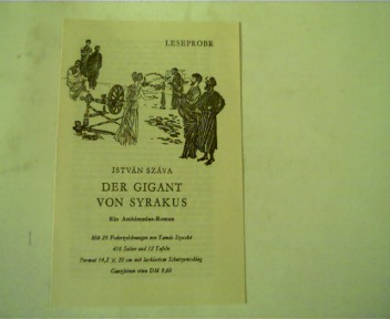 Leseprobe Der Gigant von Syrakus von Istvan Szava,
