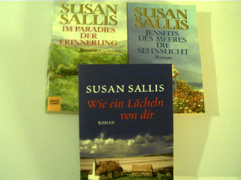 Sammlung / Bücherpaket / Konvolut Bücher, 3 Bücher von Susan Sallis 1.Im Paradies der Erinnerung, 2. Jenseits des Meeres die Sehnsucht, 3. Wie ein Lächeln von dir,