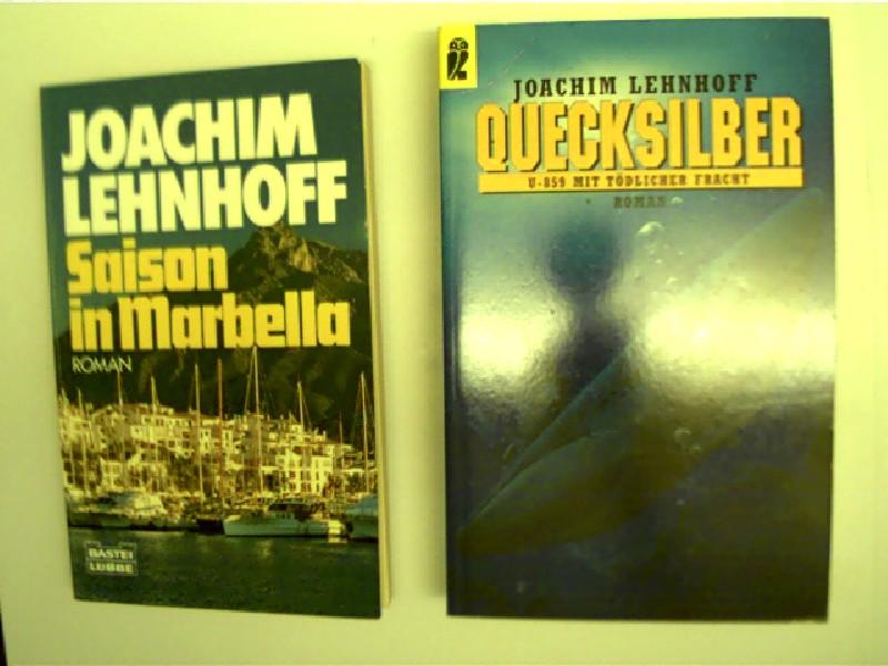Sammlung / Bücherpaket / Konvolut Bücher, 2 Bücher von Joachim Lehnhoff, 1. Saison in Marbella, 2. Quecksilber,