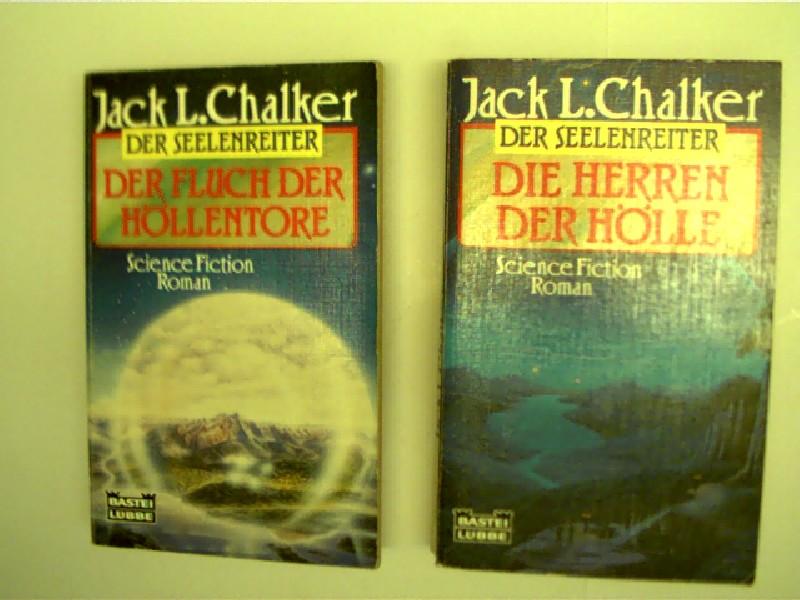 Sammlung / Bücherpaket / Konvolut Bücher, 3 Bücher von Jack L. Chalker, 1. Die Herren der Hölle, 2. Der Fluch der Höllentore, Aus der Reihe: Der Seelenreiter,