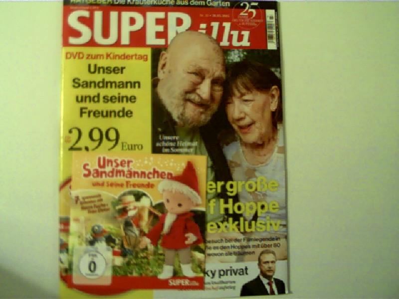 Autorenkollektiv: Der große Rolf Hoppe exklusiv! und mehr --- SUPER Illu - Nr. 23 vom 28.05.2015, Titelbild: Rolf Hoppe - Der große Rolf Hoppe exklusiv!, inkl. DVD Unser Sandmännchen und seine Freunde,