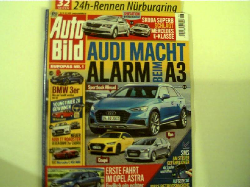Autorenkollektiv: 24h-Rennen Nürburgring (32 Zeitungsseiten!) und mehr... - Auto Bild - Nr. 19 vom 08.05.2015, Titelseite: Audi macht Alarm beim A3..., 1. Originalausgabe,