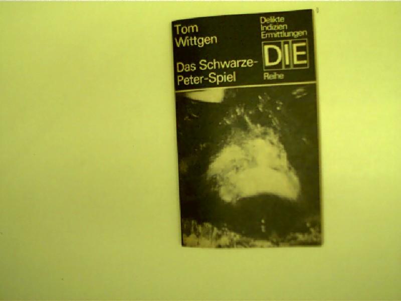 Das Schwarze-Peter-Spiel, DDR-Krimireihe: DIE - Delikte - Indizien - Ermittlungen, 2. Auflage,
