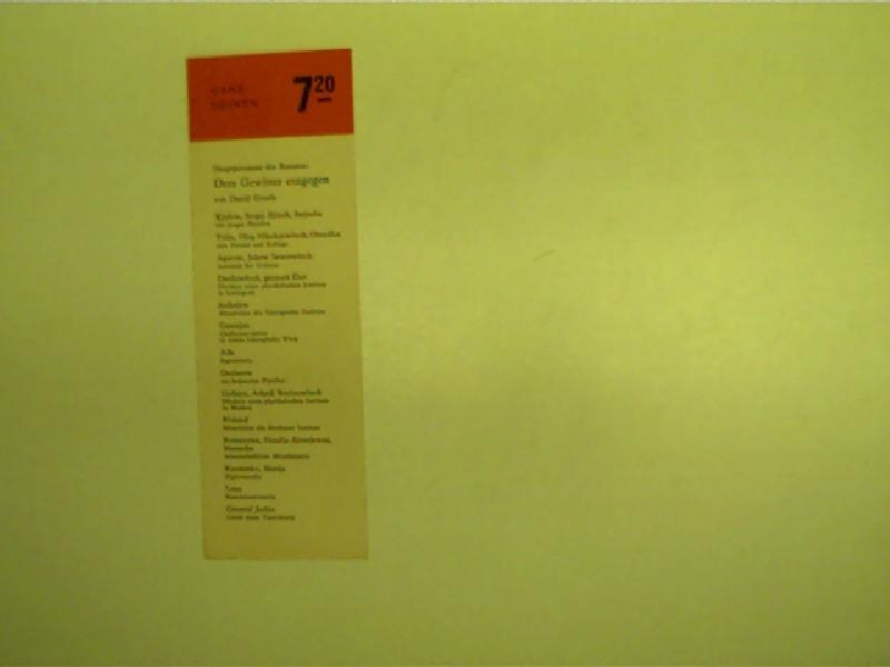 """Original Lesezeichen: zu """"Dem Gewitter entgegen"""" von Daniil Granin; Selten!, Originalausgabe,"""