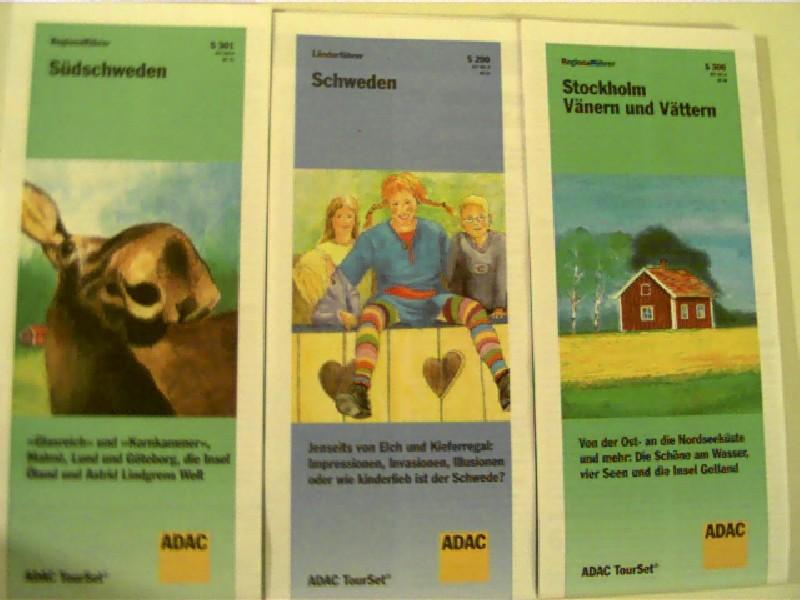 Schweden- ADAC- Tour Set- Landkarten, Schweden, Südschweden, Stockholm- Vänern und Vättern,