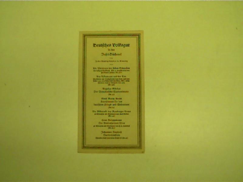 Original Lesezeichen: Deutsches Volksgut in der Insel-Bücherei, Selten!, Originalausgabe,