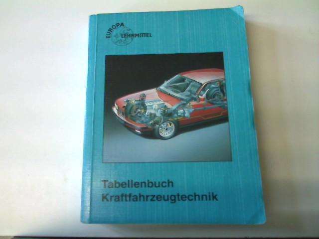 Tabellenbuch Kraftfahrzeugtechnik, 11. Auflage,